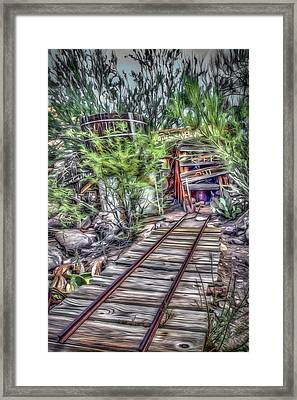 The Old Mine Entrance Framed Print by Dan Stone