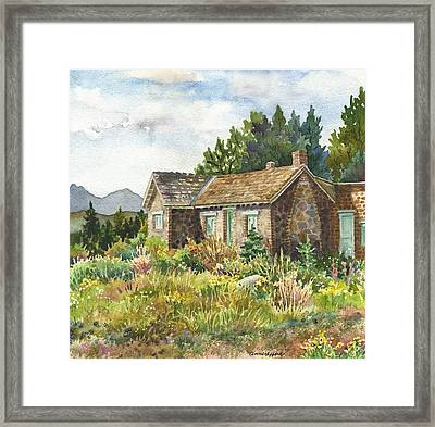 The Old Moore House At Caribou Ranch Framed Print by Anne Gifford