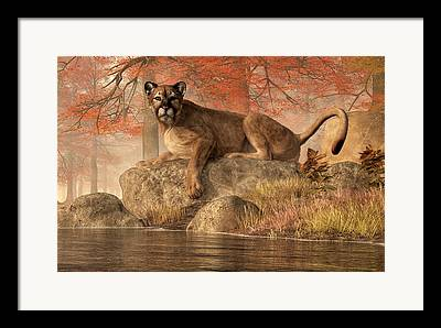 Hunting Cabin Digital Art Framed Prints