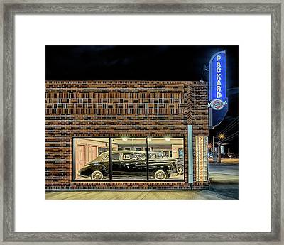 Framed Print featuring the photograph The Old Packard Dealership by Susan Rissi Tregoning