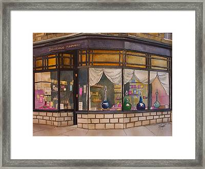 The Old Pharmacy Framed Print by Victoria Heryet