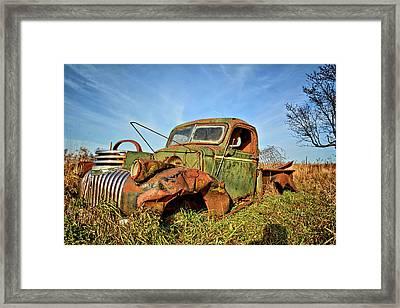 The Old Pickup Framed Print