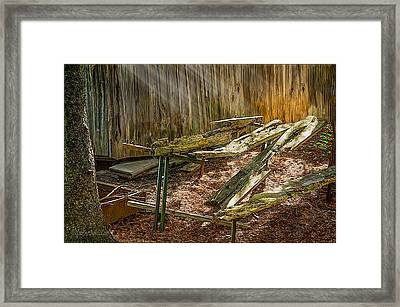 The Old Picnic Table Framed Print