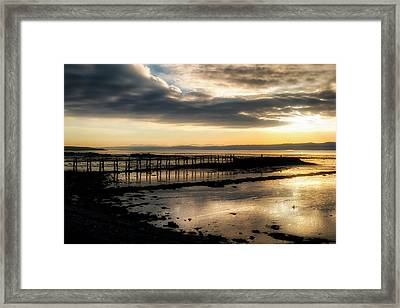 The Old Pier In Culross, Scotland Framed Print