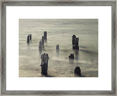 The Old Pier Framed Print by Martin Newman