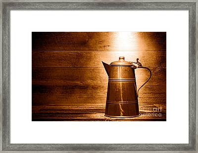 The Old Pitcher - Sepia Framed Print