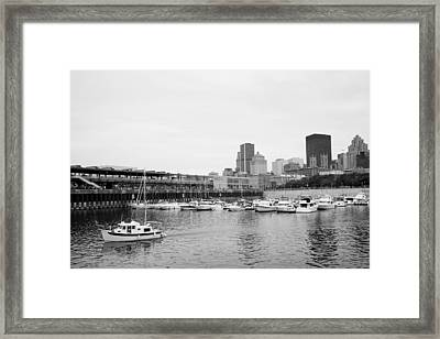 The Old Port In Montreal Framed Print by Martin Rochefort
