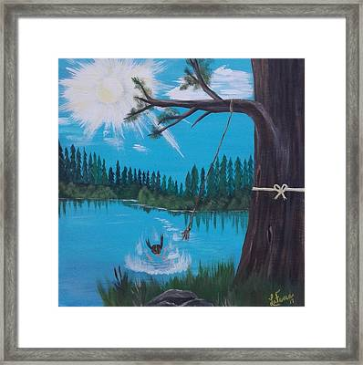The Old Quarry Framed Print by Lori Lafevers