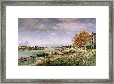The Old Quay At Bercy Framed Print by Jean Baptiste Armand Guillaumin