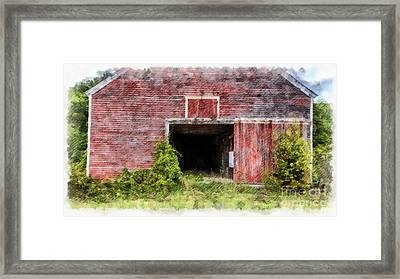 The Old Red Barn At Nutt Farm Etna Nh Framed Print