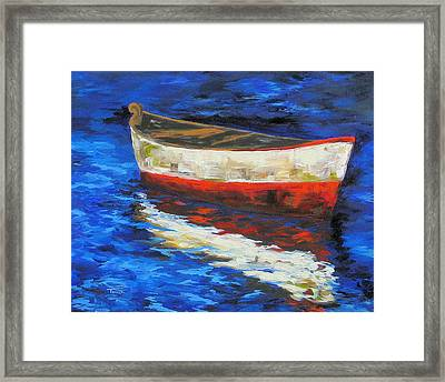 The Old Red Boat II  Framed Print by Torrie Smiley