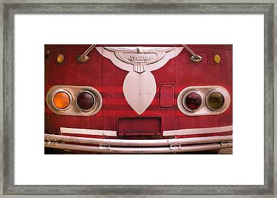 Framed Print featuring the photograph The Old Red Bus by Heidi Hermes