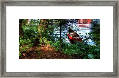 The Old Red Canoe Framed Print by David Patterson