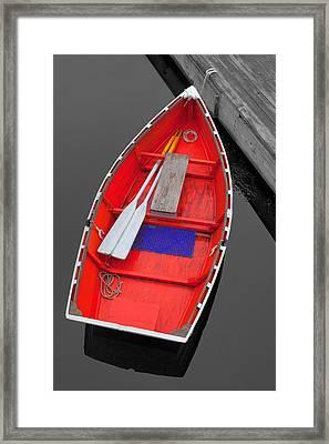 The Old Red Lobster Boat  Framed Print by Emmanuel Panagiotakis