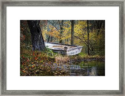 The Old Rowboat Framed Print by Debra and Dave Vanderlaan