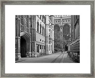 The Old Schools University Offices Cambridge Framed Print by Gill Billington