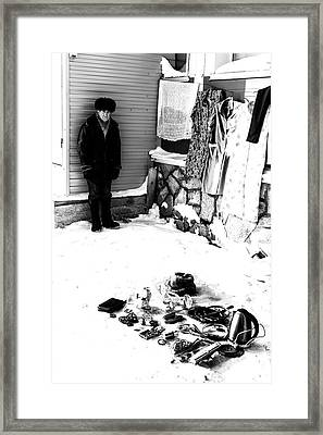 Framed Print featuring the photograph The Old Seller by John Williams