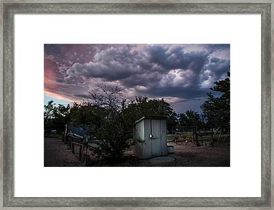 The Old Shed Framed Print by Cat Connor