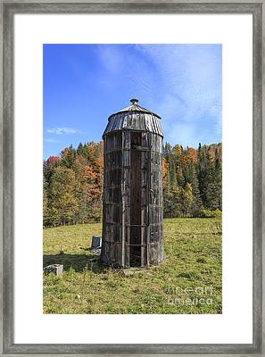 The Old Silo Vermont Framed Print
