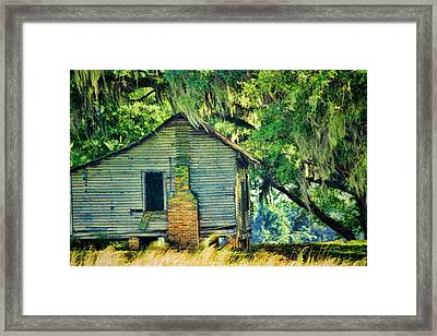 Framed Print featuring the photograph The Old Slaves Quarters by Jan Amiss Photography