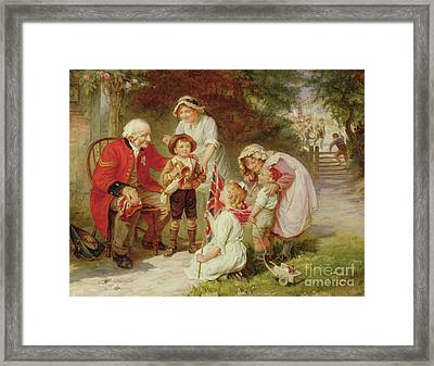 The Old Soldier Framed Print by Frederick Morgan