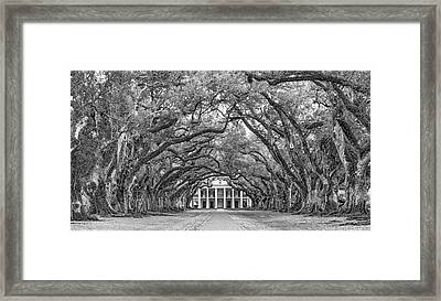 The Old South Version 3 Bw Framed Print