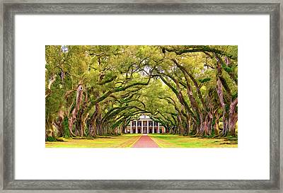 The Old South Version 3 - Paint Framed Print