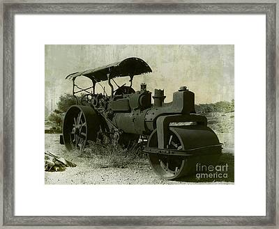 The Old Steam Roller Framed Print by Christo Christov