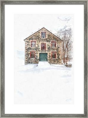The Old Stone Barn Enfield New Hampshire Framed Print by Edward Fielding