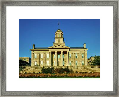 The Old Stone Capitol - Iowa City Framed Print by Mountain Dreams
