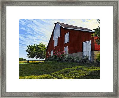 The Old Stucco Barn Framed Print