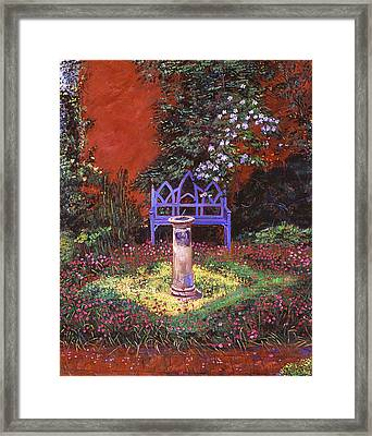 The Old Sundial Framed Print