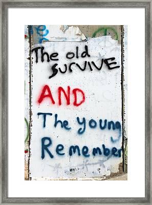 The Old Survive Framed Print