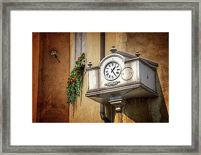 The Old Swiss Clock Geneva  Framed Print