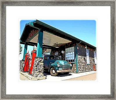 The Old Texaco Station Framed Print by Steve McKinzie