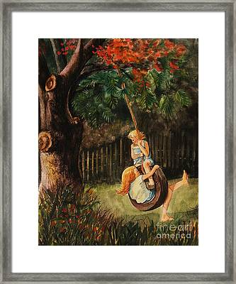 The Old Tire Swing Framed Print