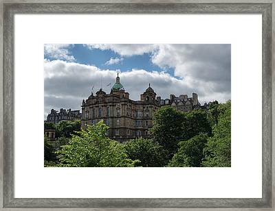 Framed Print featuring the photograph The Old Town In Edinburgh by Jeremy Lavender Photography