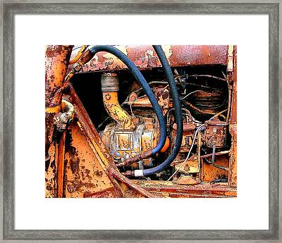 The Old Tractor  Framed Print by Linda Carroll