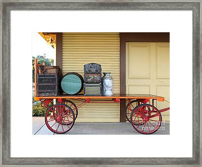 The Old Train Depot  - 5d18420 Framed Print by Wingsdomain Art and Photography
