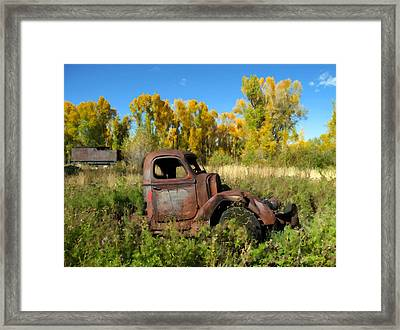 The Old Truck  Chama New Mexico Framed Print by Kurt Van Wagner
