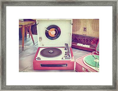 The Old Turntable Framed Print by Martin Bergsma