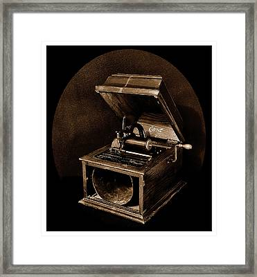 The Old Victrola Framed Print