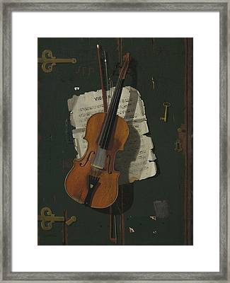 The Old Violin Framed Print by John Frederick Peto