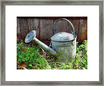 The Old Watering Can Framed Print by Dorothy Berry-Lound