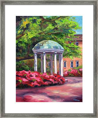 The Old Well Unc Framed Print by Jeff Pittman