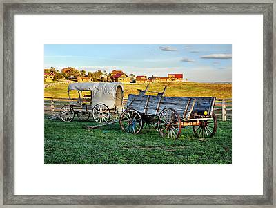 Framed Print featuring the photograph The Old West by Barbara Manis