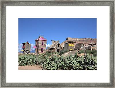 The Old Western Town  Framed Print