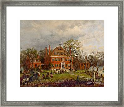The Old Westover House Framed Print by Edward Lamson Henry