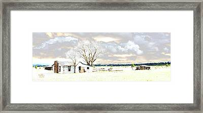The Old Winter Homestead Framed Print