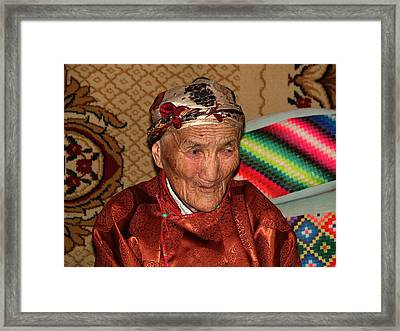 The Old Woman Of The Gobi Framed Print